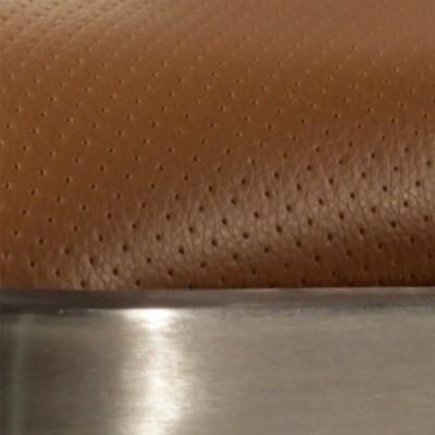 Inox brossé / Assise marron