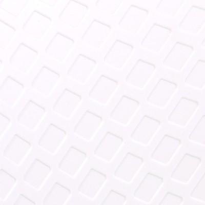 Polypropylène blanc motif losange / Métal finition chromé
