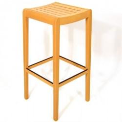 Tabouret en hêtre assise lattes bois hauteur 80