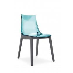 Chaise bois et assise en polymère