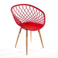 Chaise polypropylène et bois Sidera