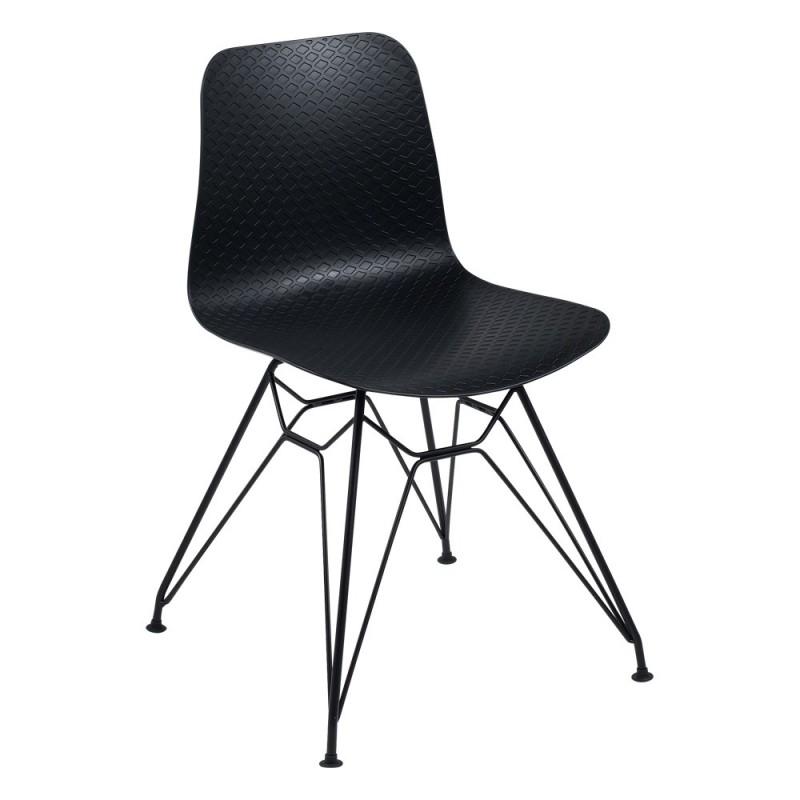 Chaise pieds métal et polypropylène Céleste
