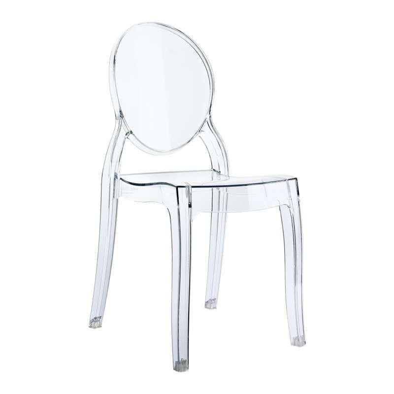 Chaise en plexi transparent Elizabeth modèle enfant