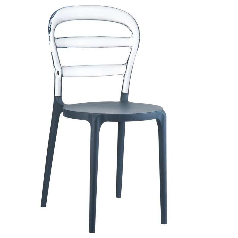 Chaise en polycarbonate et polypropylène