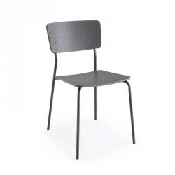 Chaise en métal et bois - CB/1956