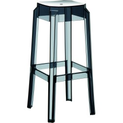 Tabouret bar en plexi  Noir transparent