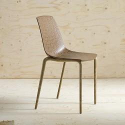 Chaise design à motifs en...